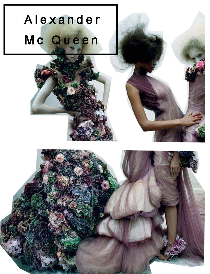 alexander mcqueen, collage, mode collage, figurines, illustration, illustrationen,mcqueen,savage beauty,london, fashion design,fashion designer, victoria and albert, enfant terrible