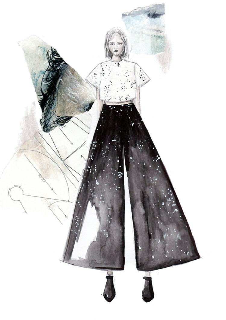 Du designst gerne Mode ? Ich gebe dir Tipps, wie du deine eigene Modekollektion erstellen kannst und wie ich selber bei meiner Kollektion zum Thema Weltraum vorgegangen bin! Lies sie und starte gleich durch! Hermine on walk |Fashion Design | Mode Design | Fashion Illustration | Fashion Sketch |