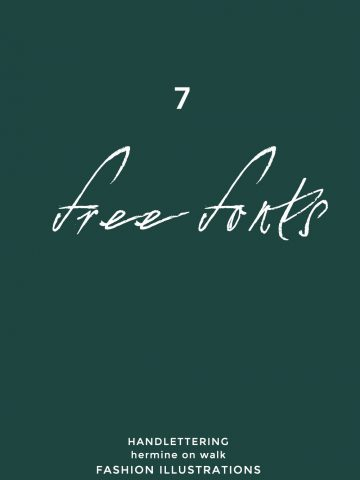 Ich zeige euch 7 kostenlose handgeschriebene Schriftarten, die mir sehr gut gefallen. Einfach downloaden und gleich mit dem nächsten Grafik Design starten| Hermine on walk |Free handlettering Fonts | Graphic Design | Quotes