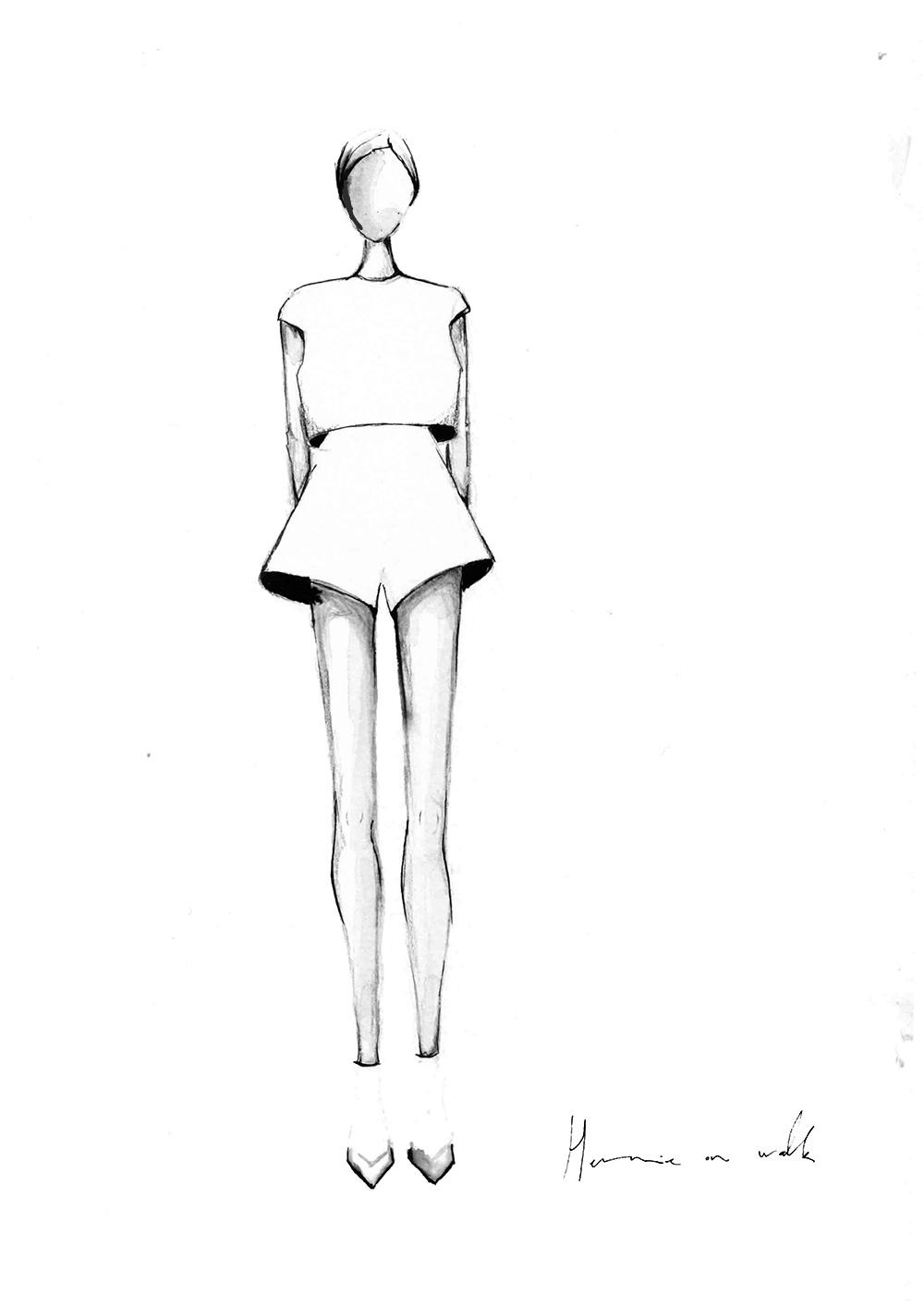 in 3 schritten zu gelungenen mode illustrationen mit tusche. Black Bedroom Furniture Sets. Home Design Ideas