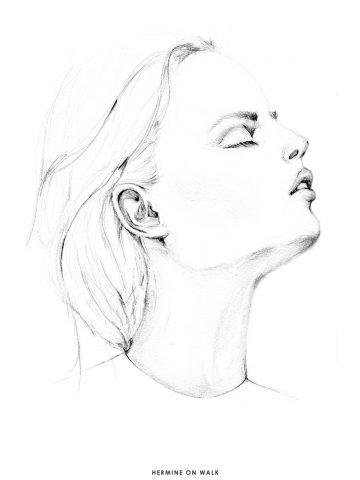 Was ich bei Demotivation mache, warum es manchmal schwer sein kann eine Pause zu machen | Hermine on walk | Fashion Illustration | Fashion Sketch | Porträt Illustration | Sketchbook |