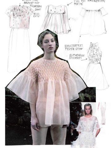 Erfahrt, weshalb ich zeit Kurzem hin und weg von Haute Couture bin, und wie meine Inspirations Mode Collagen für mein neues Nähprojekt aussehen!