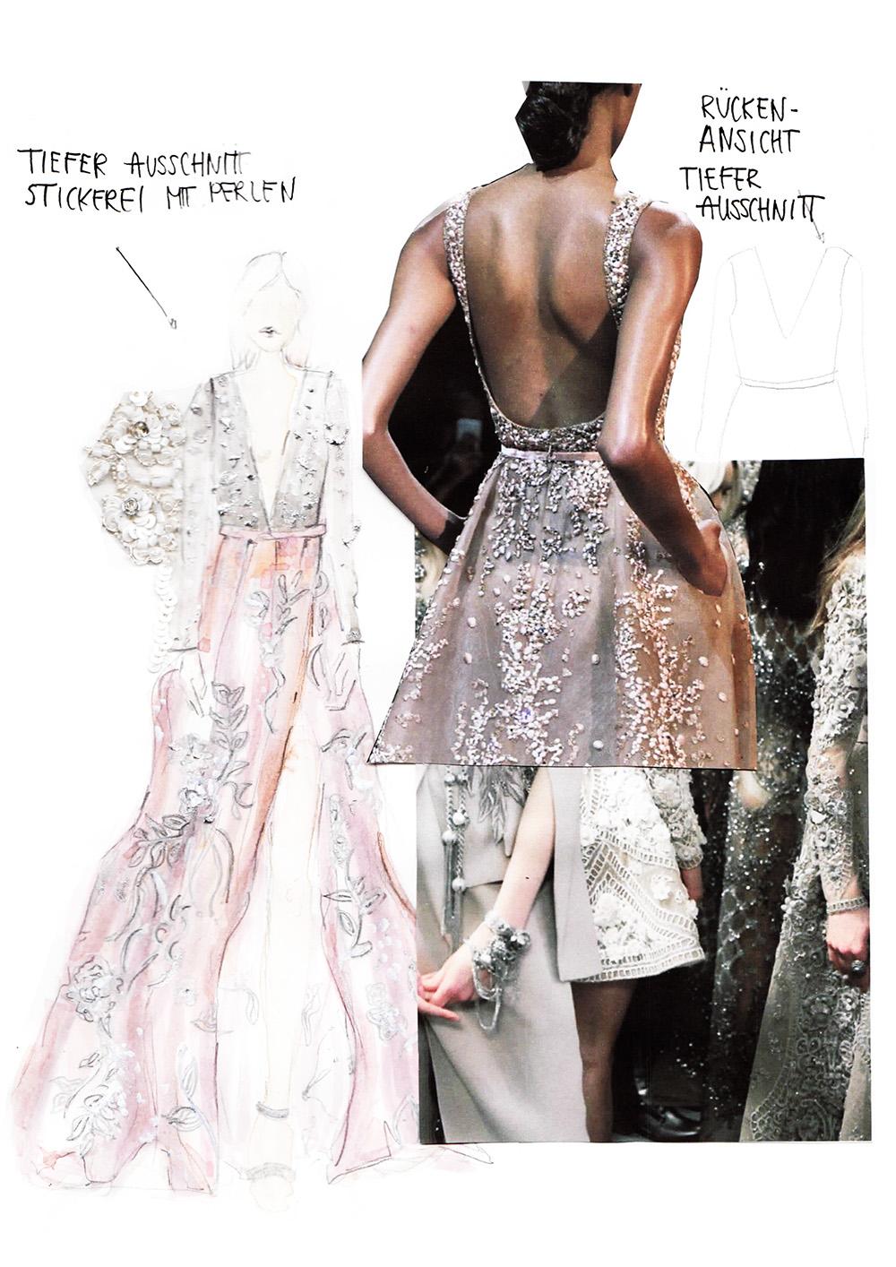 So sieht mein Skizzenbuch zum Thema Haute Couture aus ! Erfahrt, weshalb ich hin und weg bin und wie die Mode Collagen für mein neues Nähprojekt aussehen! Hermine on walk | Sketchbook | Fashionsketch |Graphic Design | Portfolio | Fashion Design