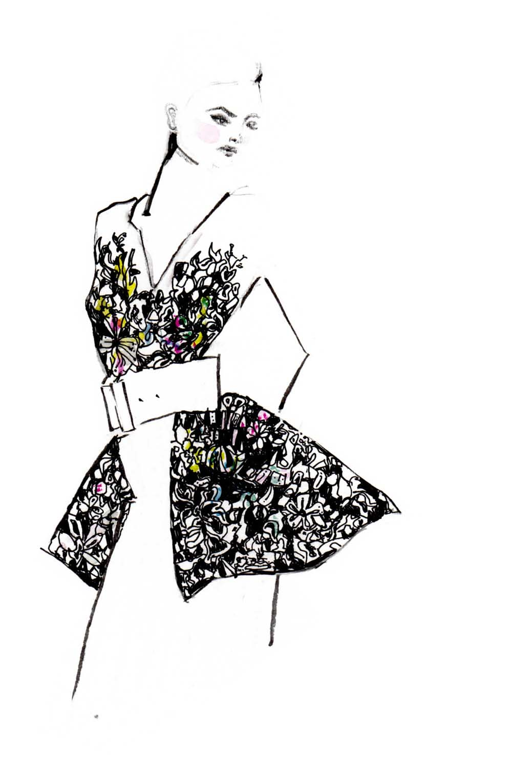 Erfahre, wie du deine eigenen Modezeichnungen erstellen kannst und auf was du achten musst + einfach Erklärung in 3 Schritten. Fashion Illustrations | Fashionsketch | Fashionsketchbook | ModeIillustration | Hermine on walk