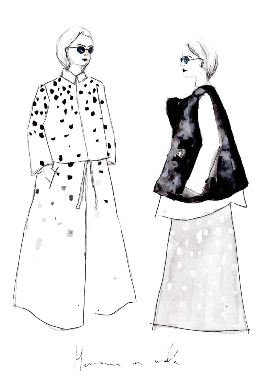 Erfahre, wie du deine deine eigenen Modezeichnungen erstellen kannst und auf was du achten musst + einfach Erklärung in 3 Schritten. Fashion Illustrations | Fashionsketch | Fashionsketchbook | ModeIillustration | Hermine on walk