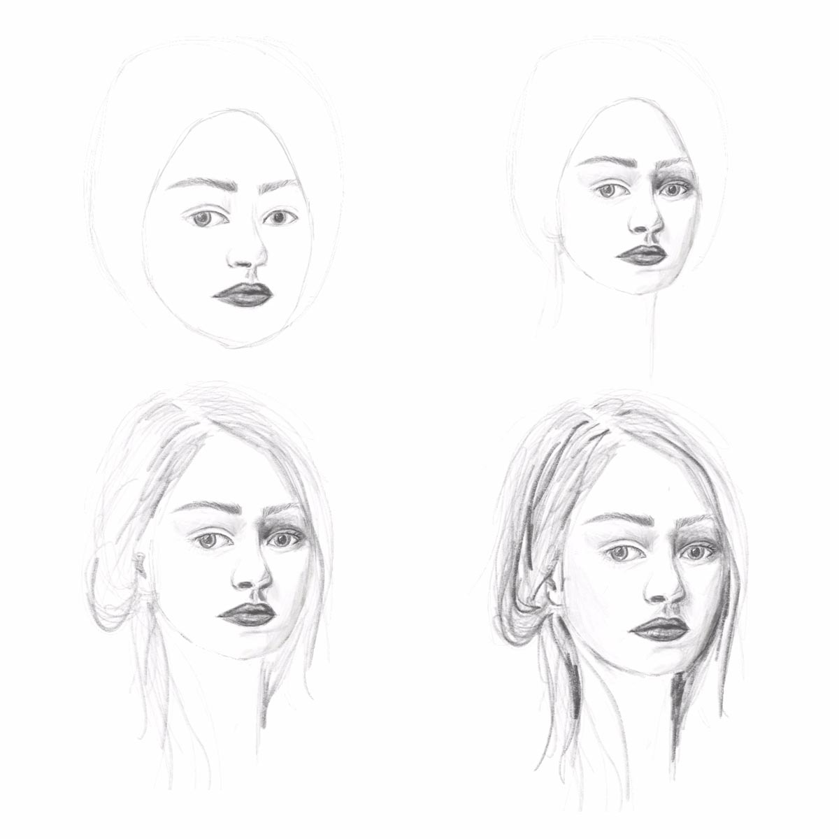 In 5 Schritten Gesichter Zeichnen Lernen Hermine On Walk