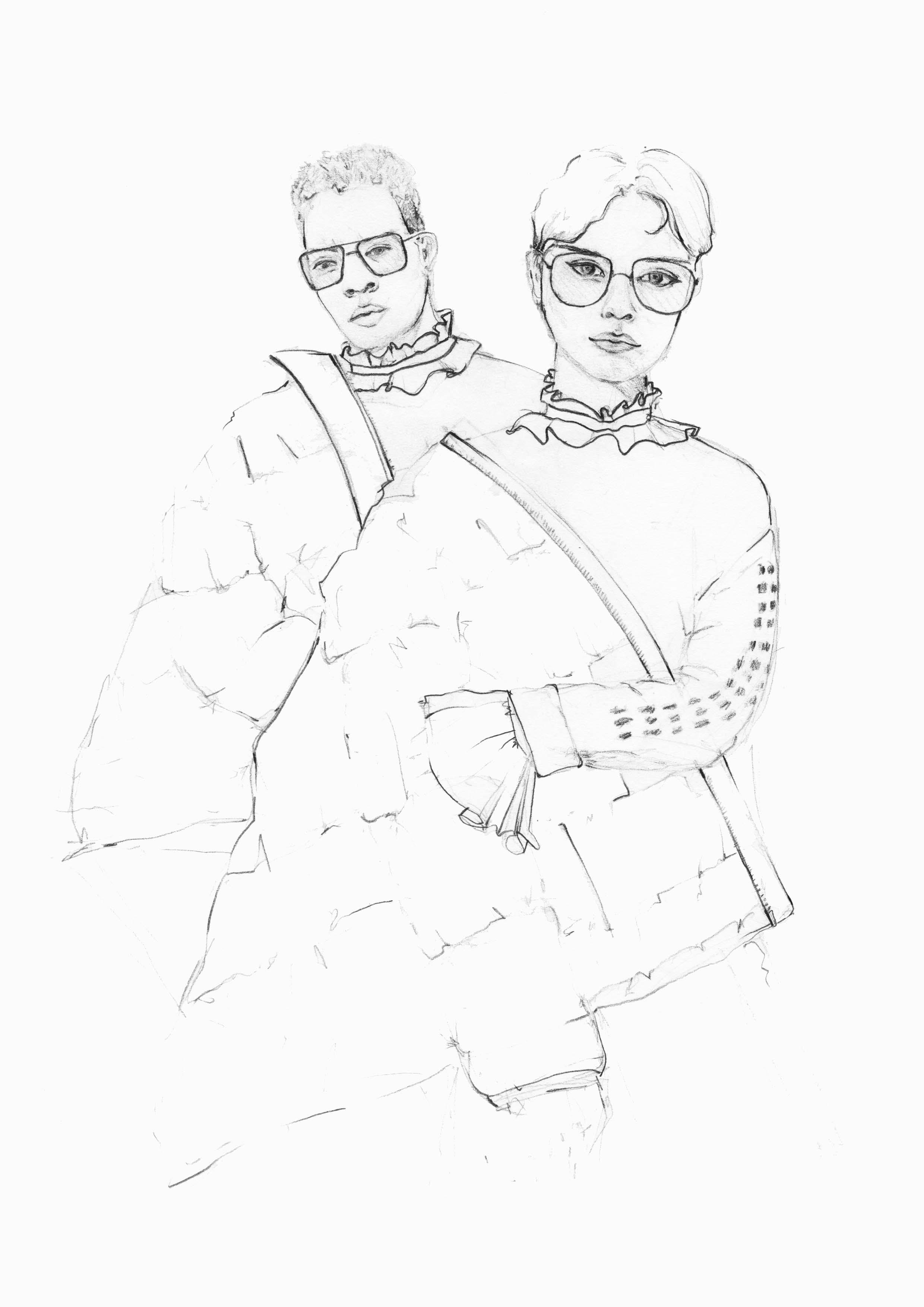 Warum es so wichtig ist eine Leidenschaft zu haben, wie man diese wiederfindet und was meine Bleistiftzeichnungen damit zu tun haben. | Hermine on walk | Sketchbook | Fashion Drawing | Portfolio | Fashion Collagen